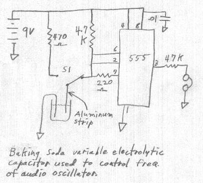 Baking Soda Variable Electrolytic Capacitor